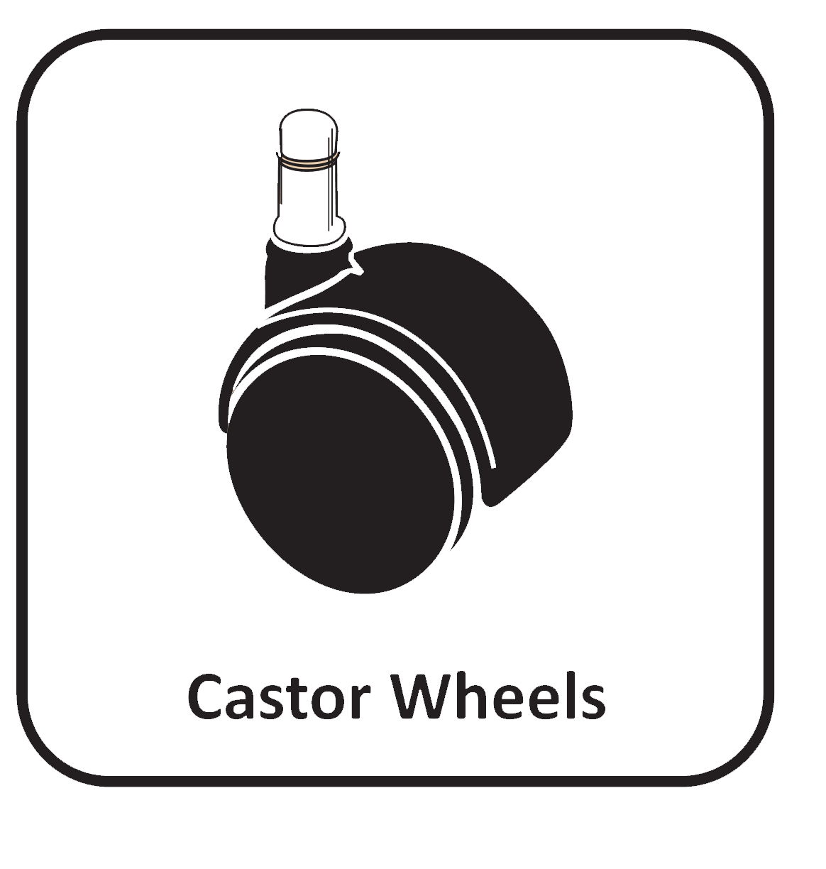 Castor wheels icon